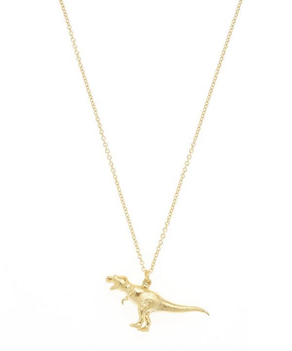 Gold-Plated Tyrannosaurus Rex Pendant Necklace