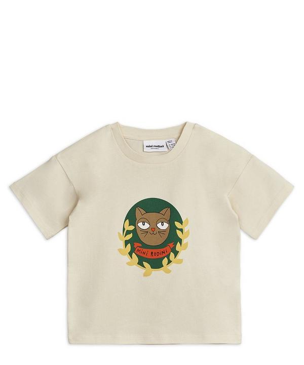 Short-Sleeved Cat Badge T-Shirt 2-8 Years