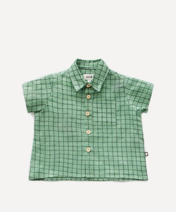 Check Print Button-Down Shirt 2 Years