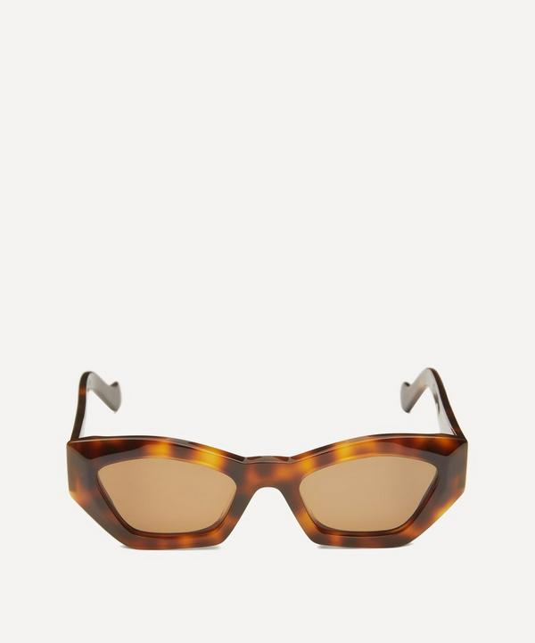 Geometric Slim Cat-Eye Sunglasses