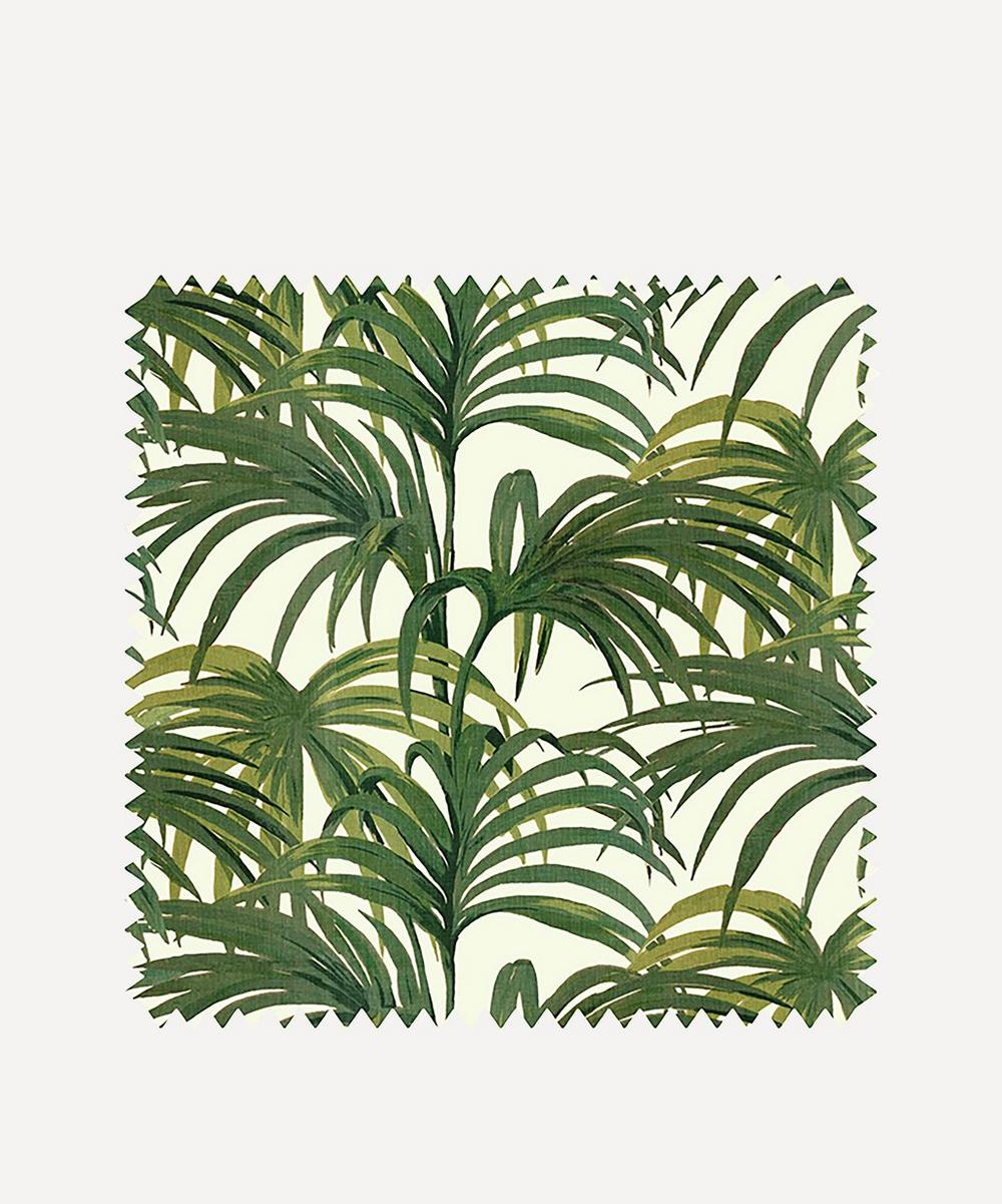 White & Green Palmeral Wallpaper Sample Swatch
