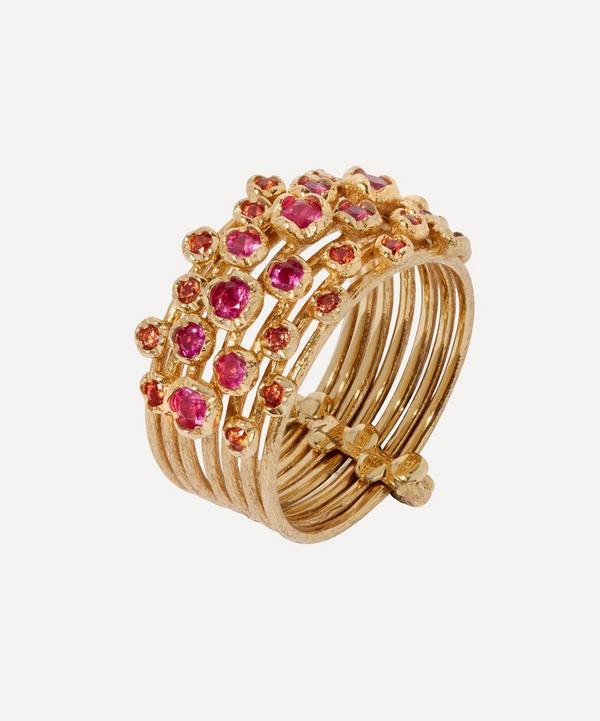 18ct Gold Hidden Reef Sapphire Ring