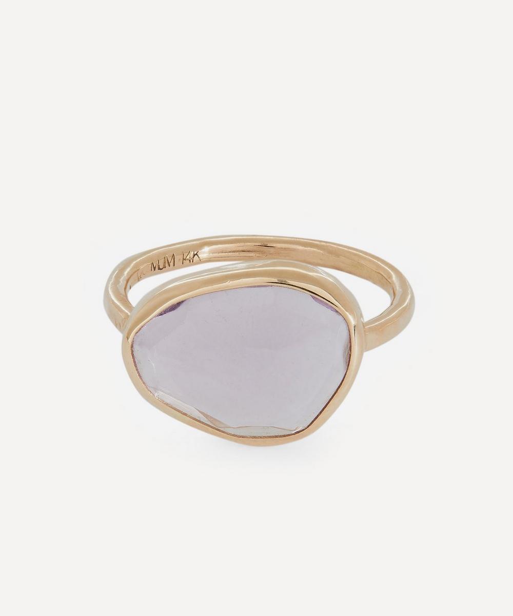Gold Freeform Amethyst Ring