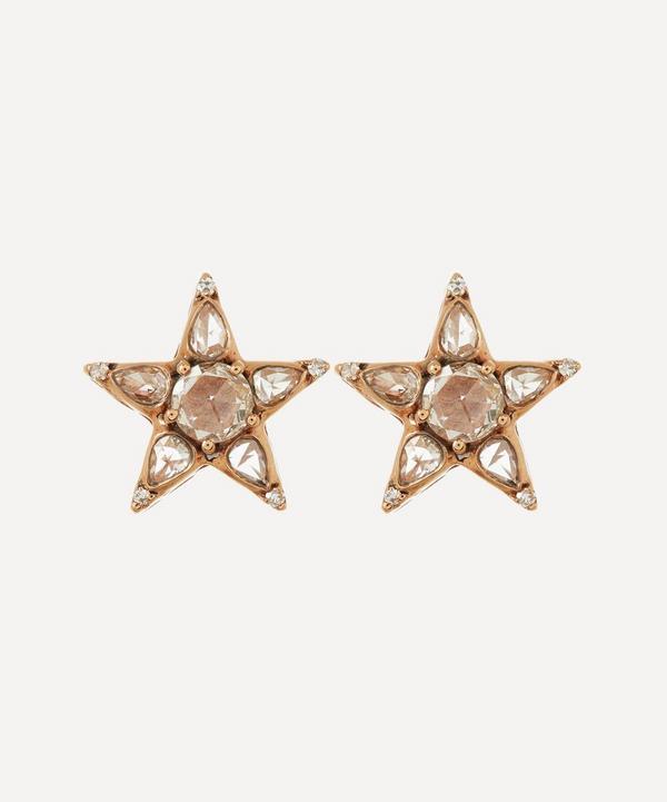 Rose Gold Istanbul Diamond Star Stud Earrings