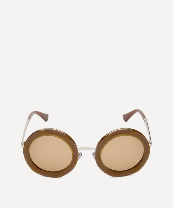 Cross Round Acetate Sunglasses