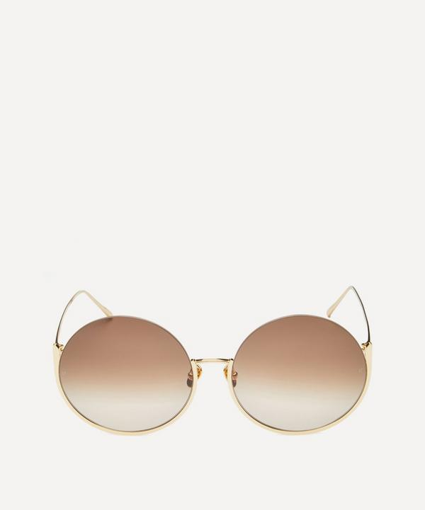 Olivia Round 18ct Gold-Plated Sunglasses