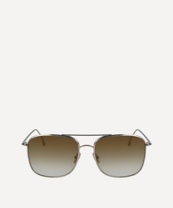 Hammered Square Aviator Sunglasses