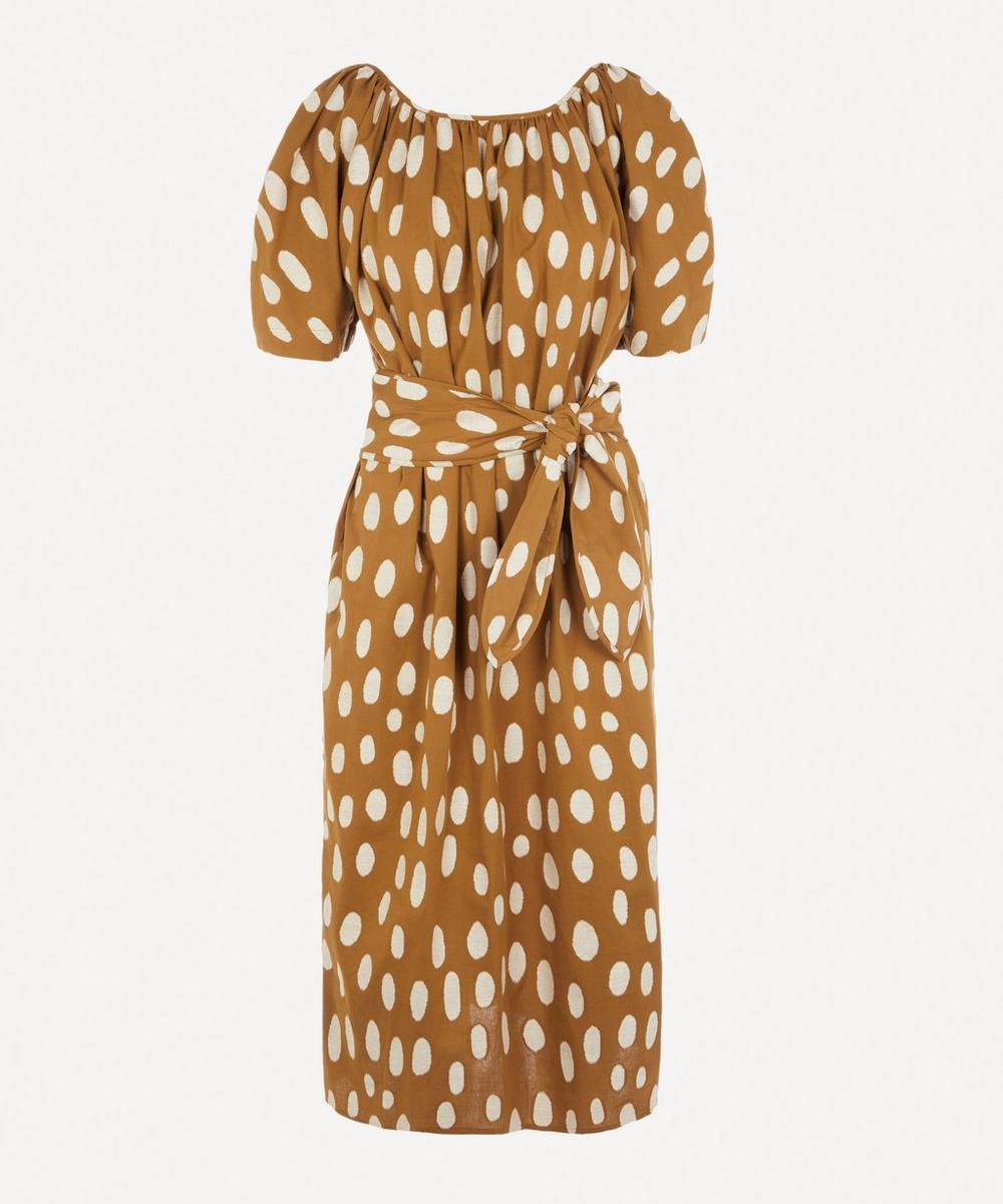 Aliz Spotted Midi-Dress