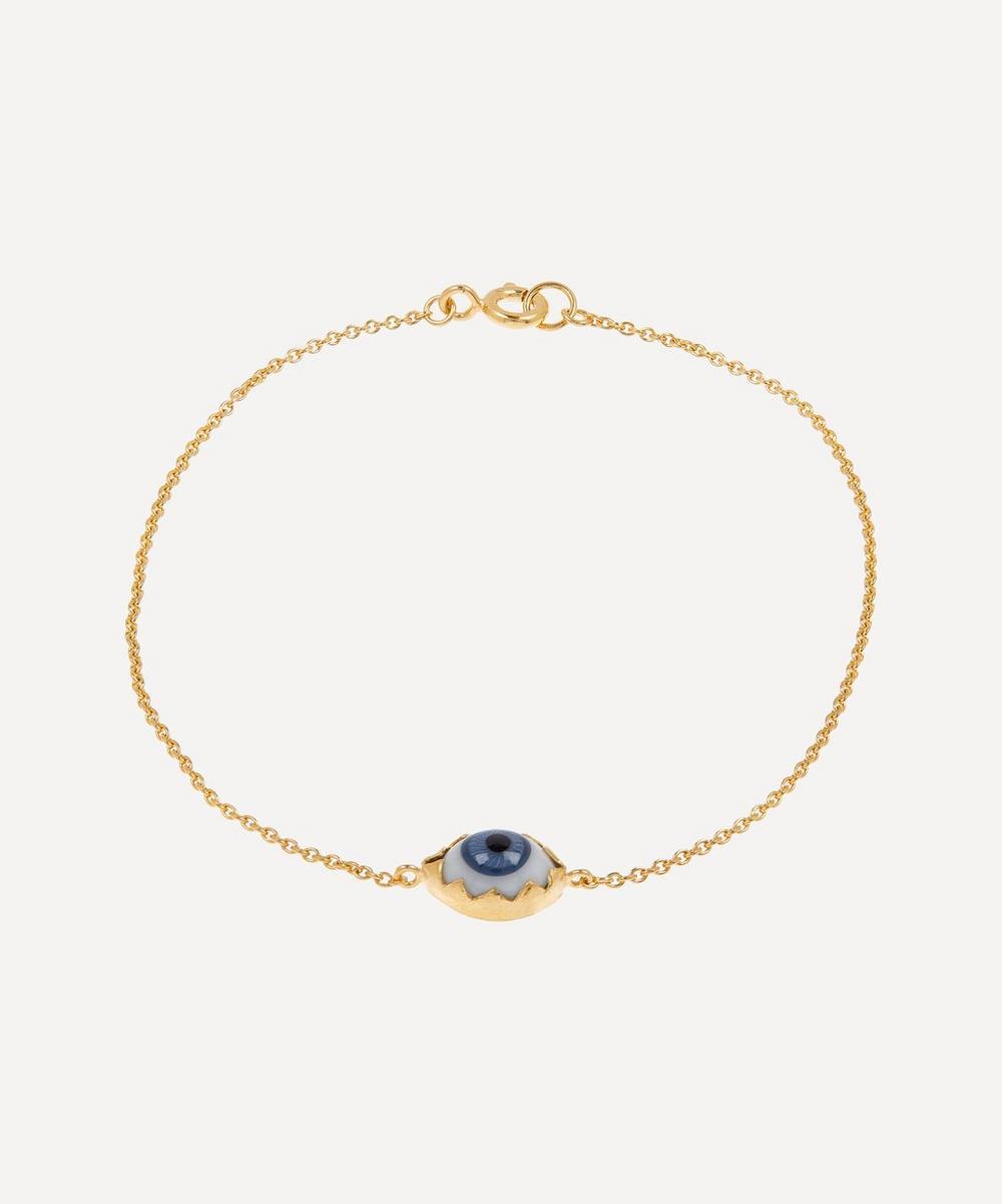 Gold-Plated Single Eye Bracelet