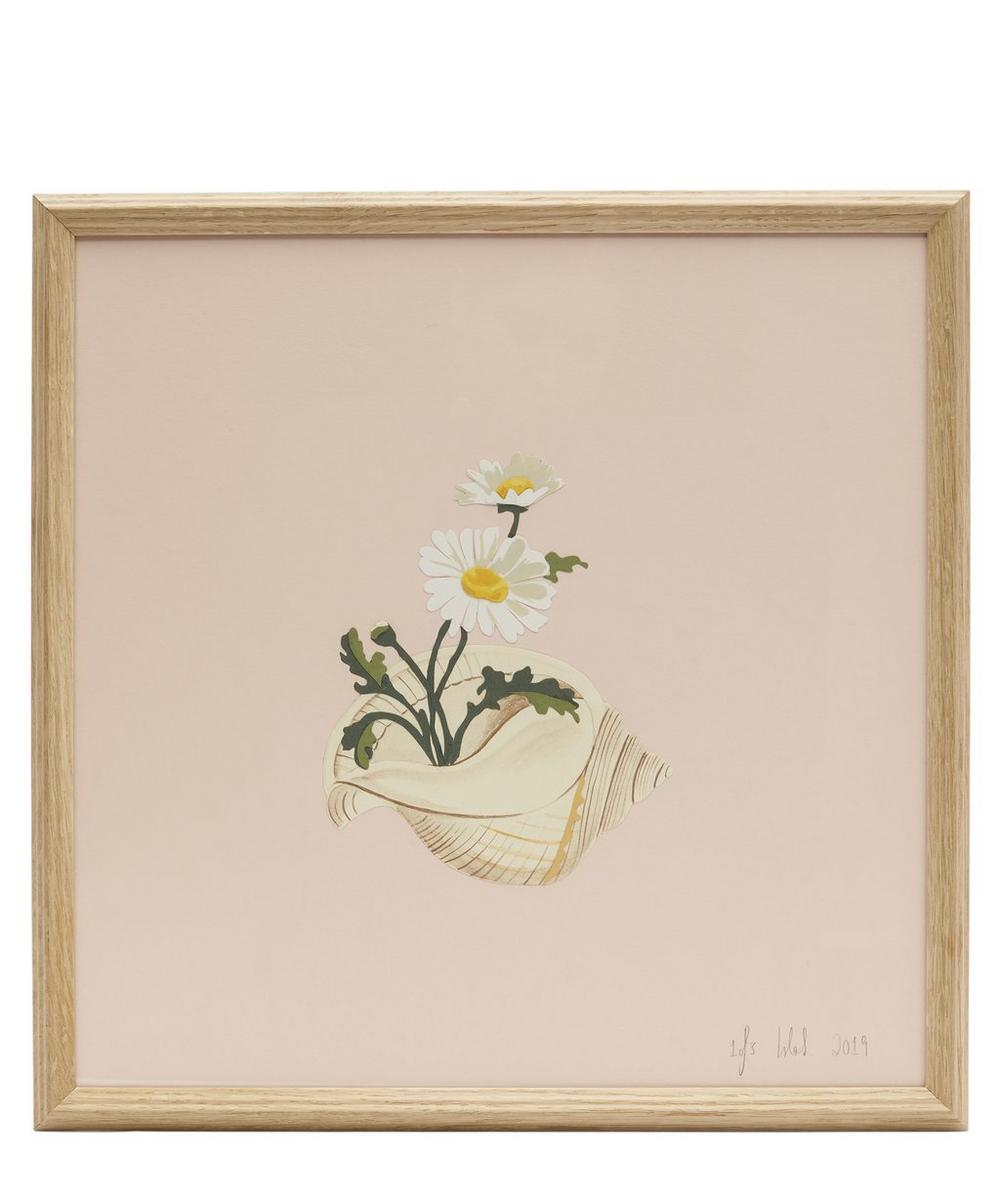 Daisies and Conch Shell Framed Artwork