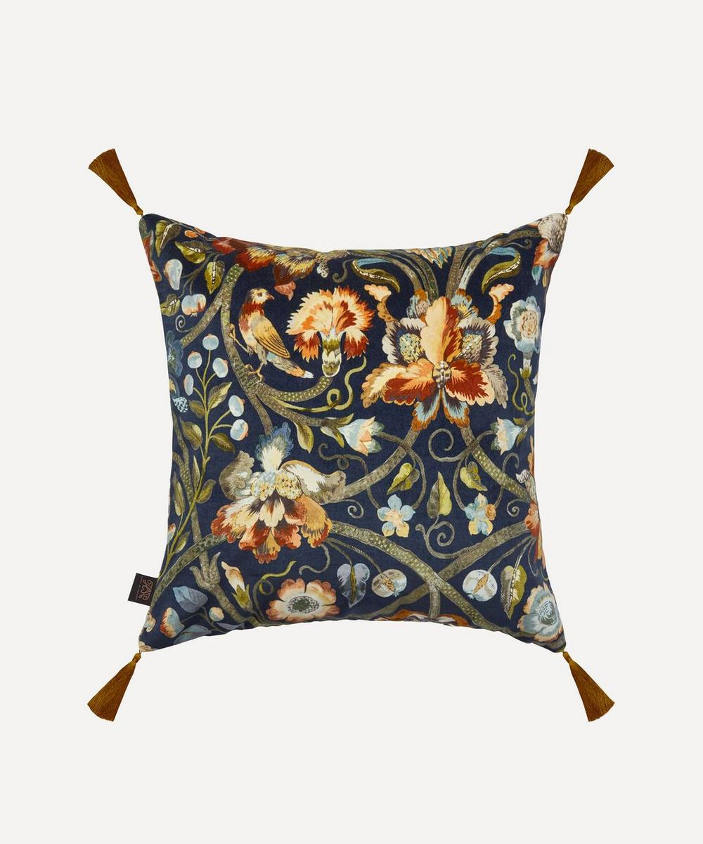 Gaia Cotton Velvet Tassel Cushion