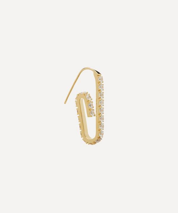 Gold-Plated The Jumbo Pavé Paperclip Earring