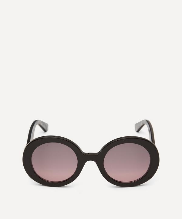 Oversized Round Acetate Sunglasses
