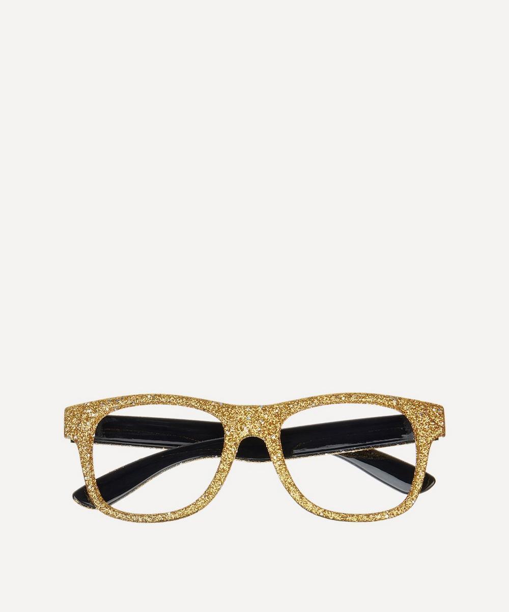 Gold-Tone Glitter Glasses
