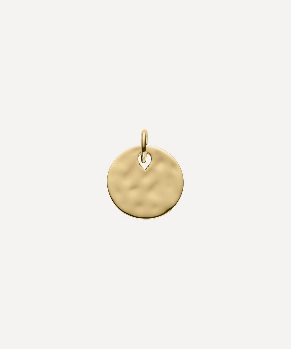 Gold Plated Vermeil Silver Ziggy Round Pendant Charm