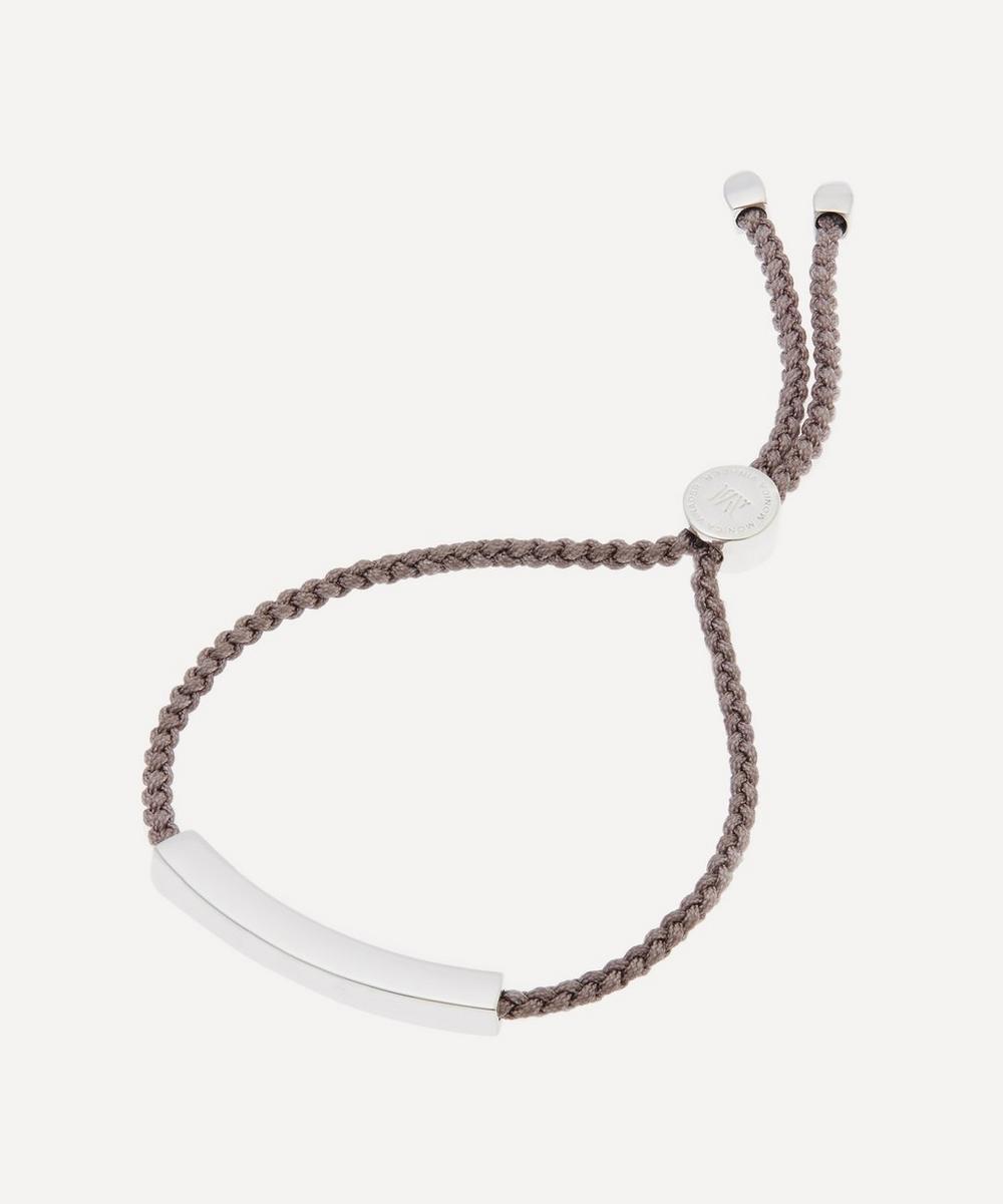 Silver Linear Cord Friendship Bracelet