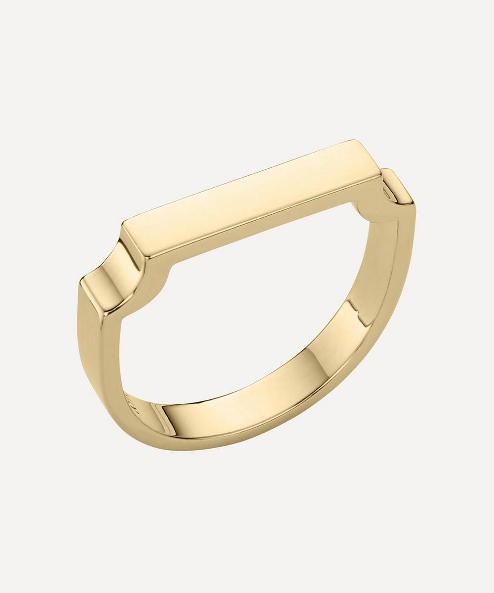 Gold Plated Vermeil Silver Signature Ring