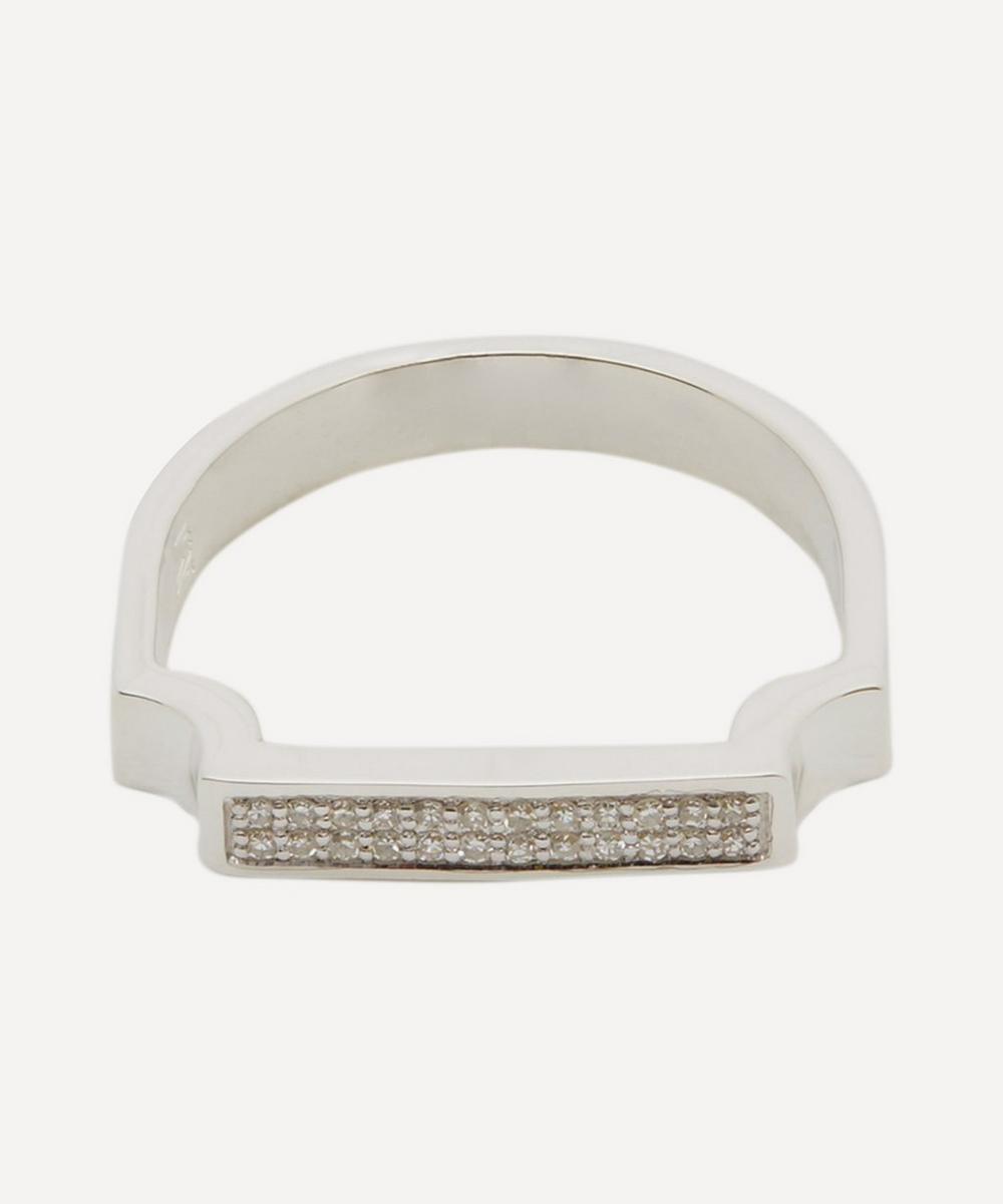 Silver Signature Diamond Ring