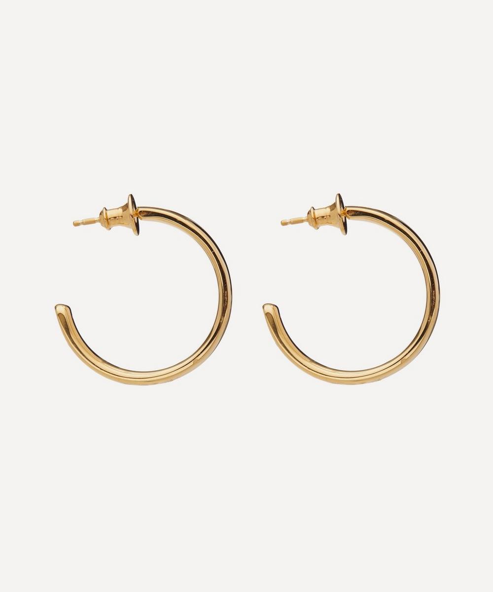 Gold Plated Vermeil Silver Fiji Large Hoop Earrings