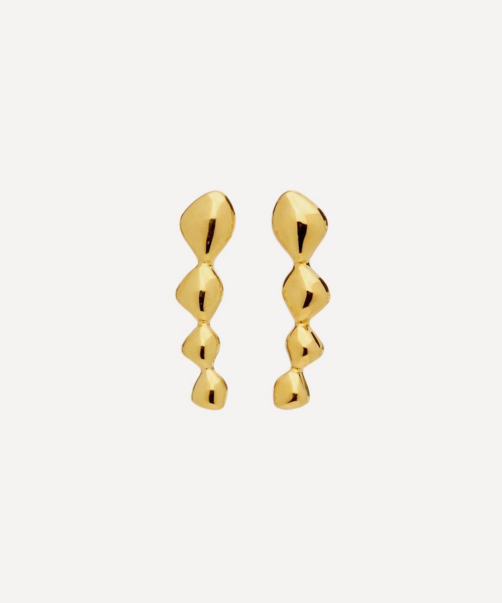 Gold Plated Vermeil Silver Nura Teardrop Climber Earrings