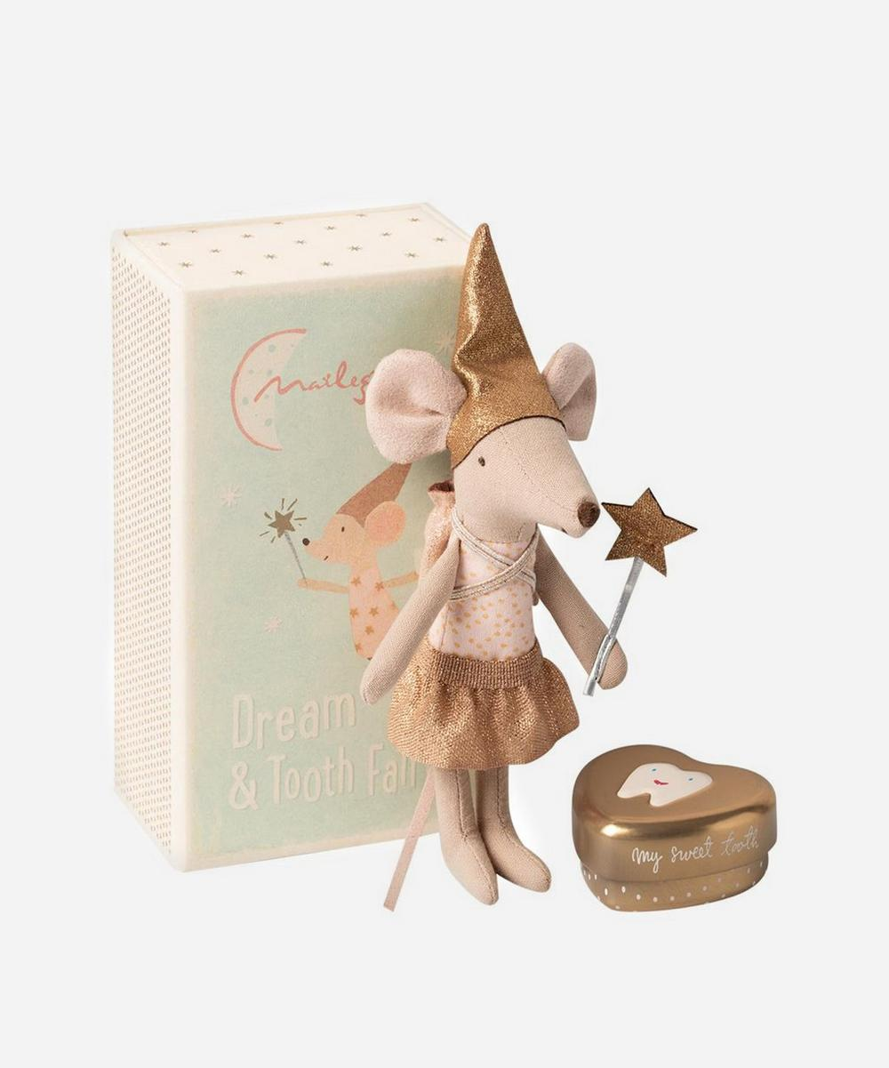 Big Sister Tooth Fairy Mouse Toy with Metal Box