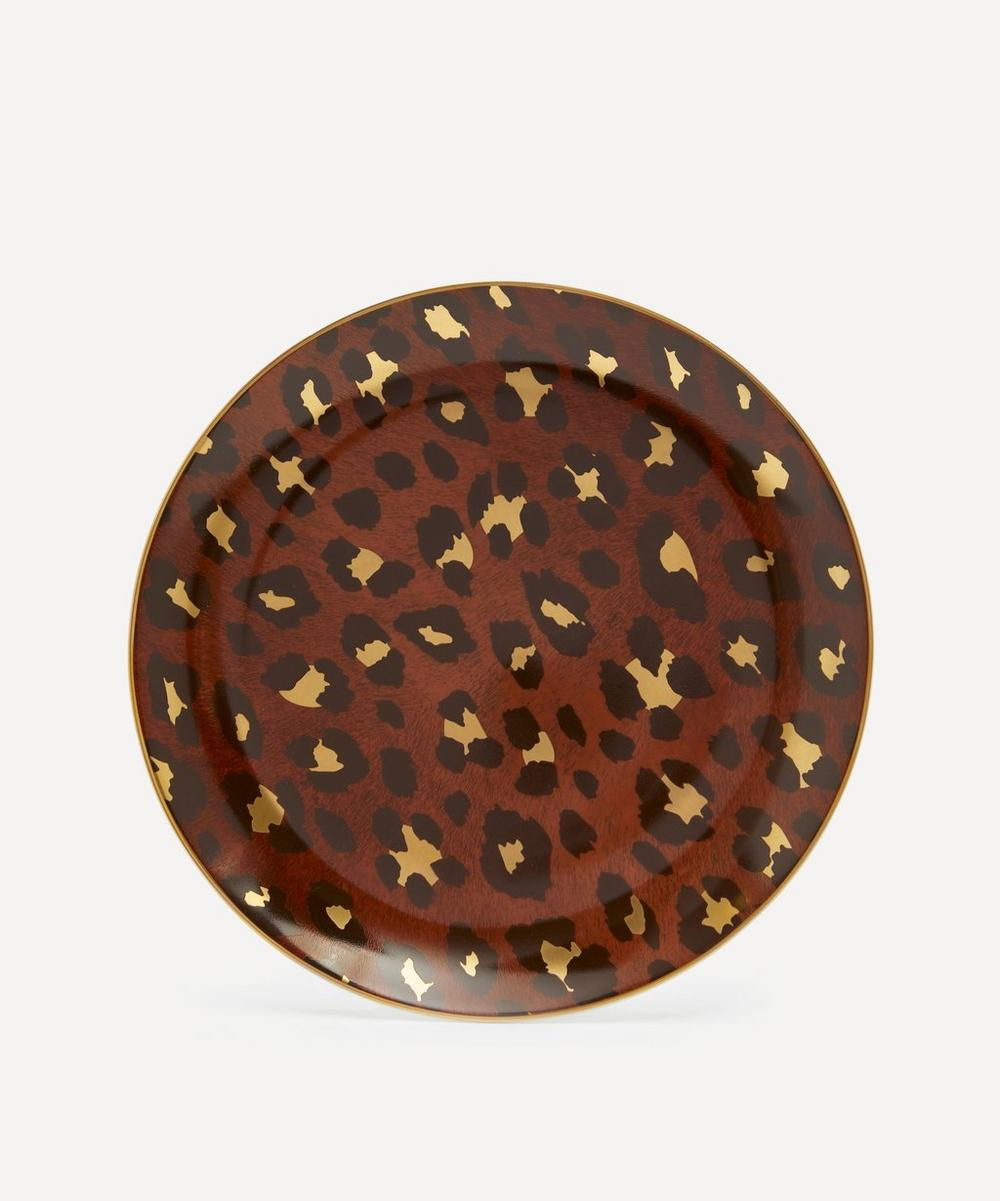 Leopard Dessert Plates Set of Four