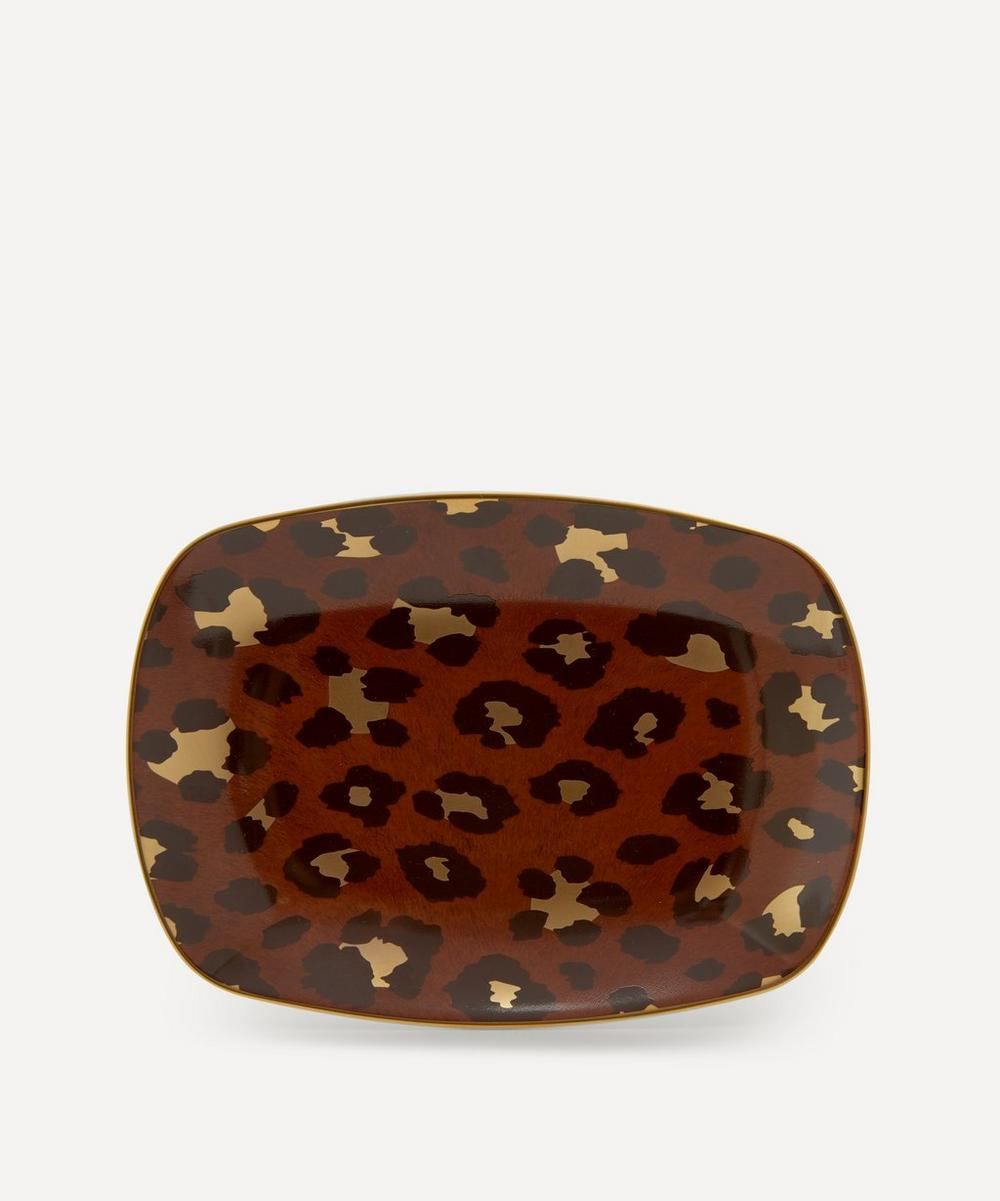 Small Leopard Rectangular Tray