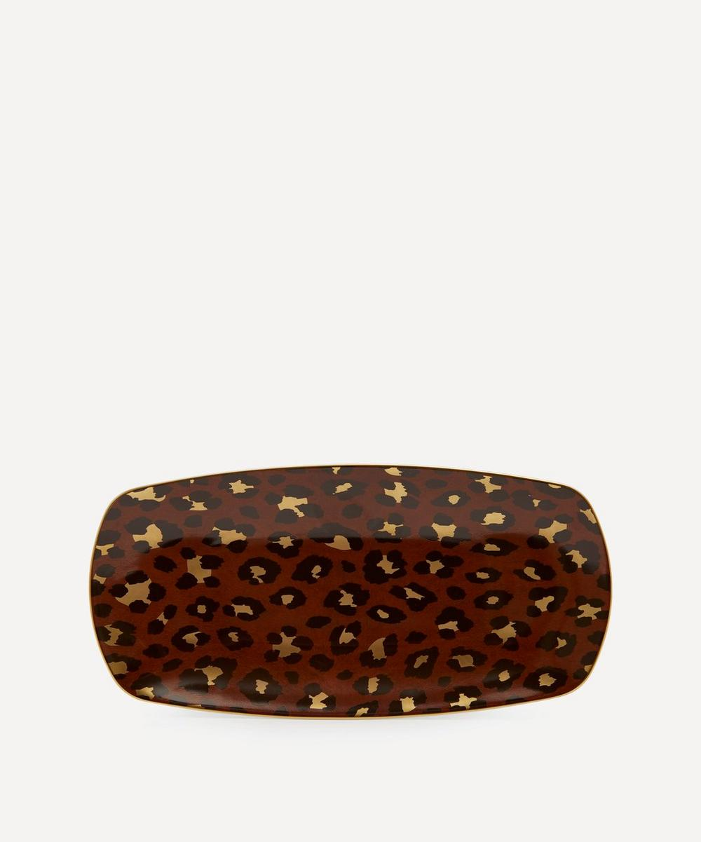 Medium Leopard Rectangular Tray