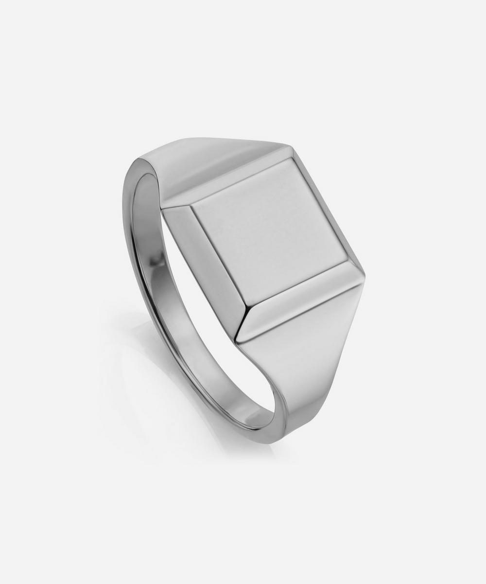 Silver Signature Signet Ring