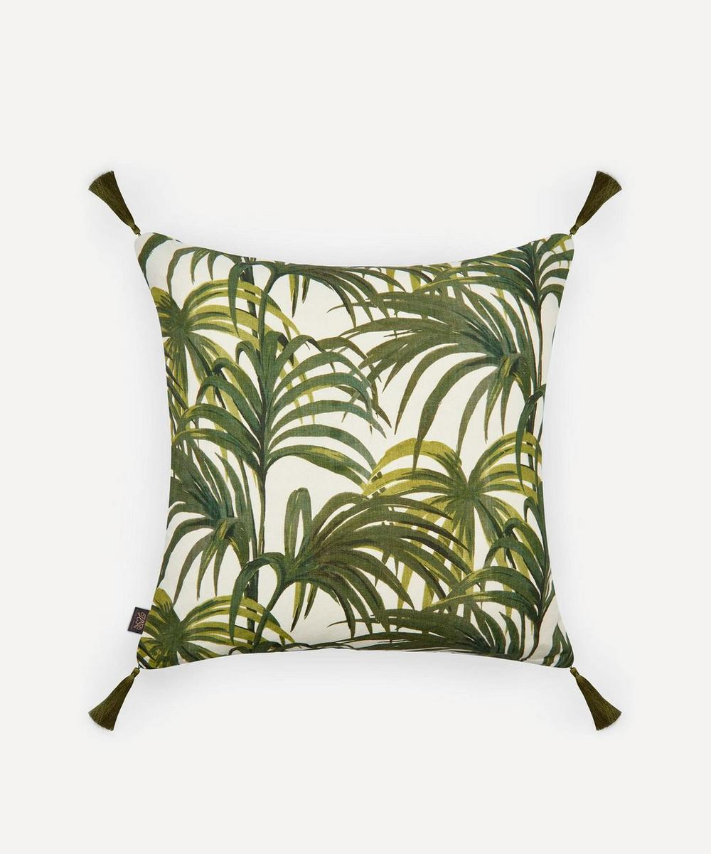Large Palermal Linen Tassel Cushion