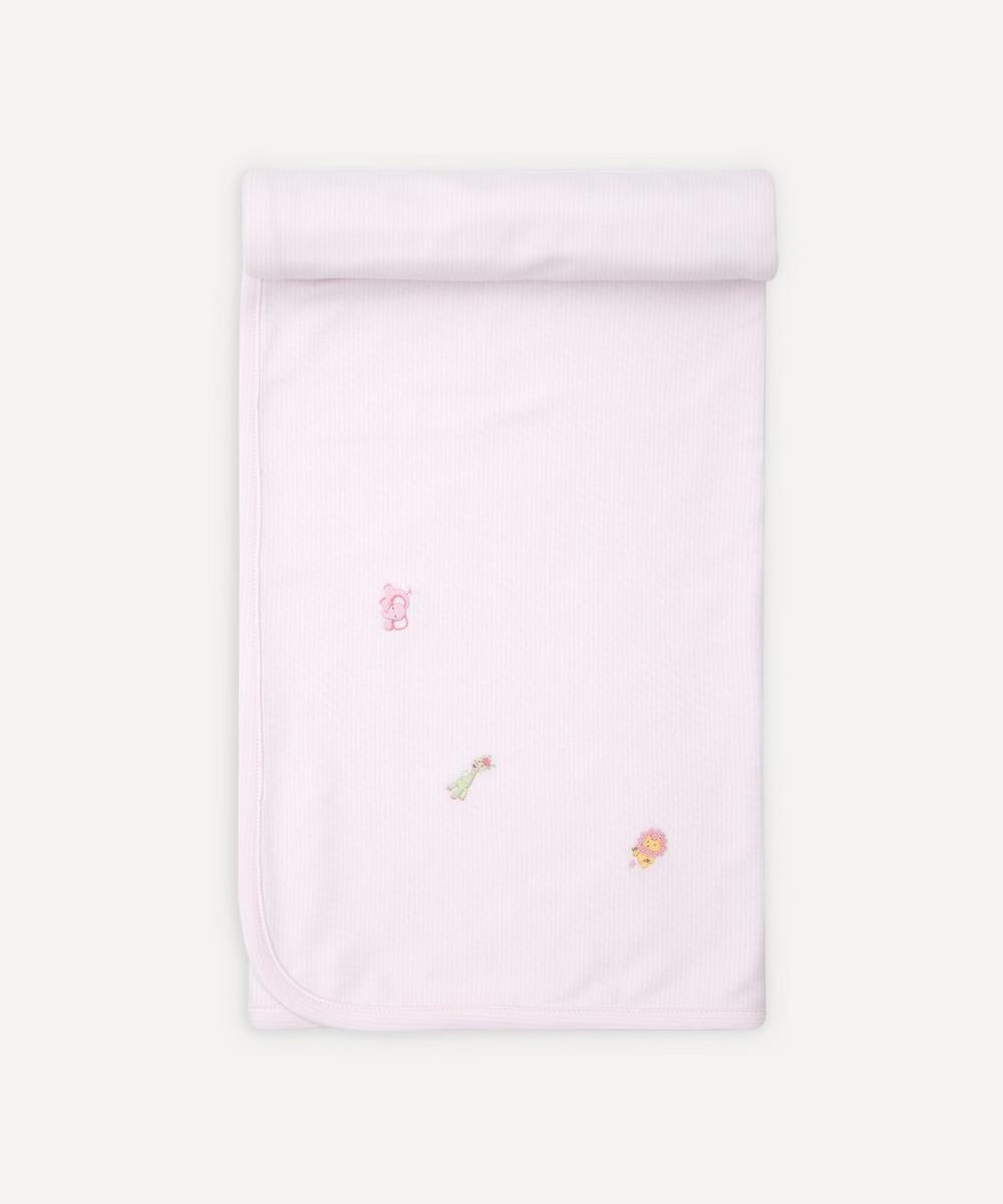 Jolly Jungle Hand-Embroidered Blanket