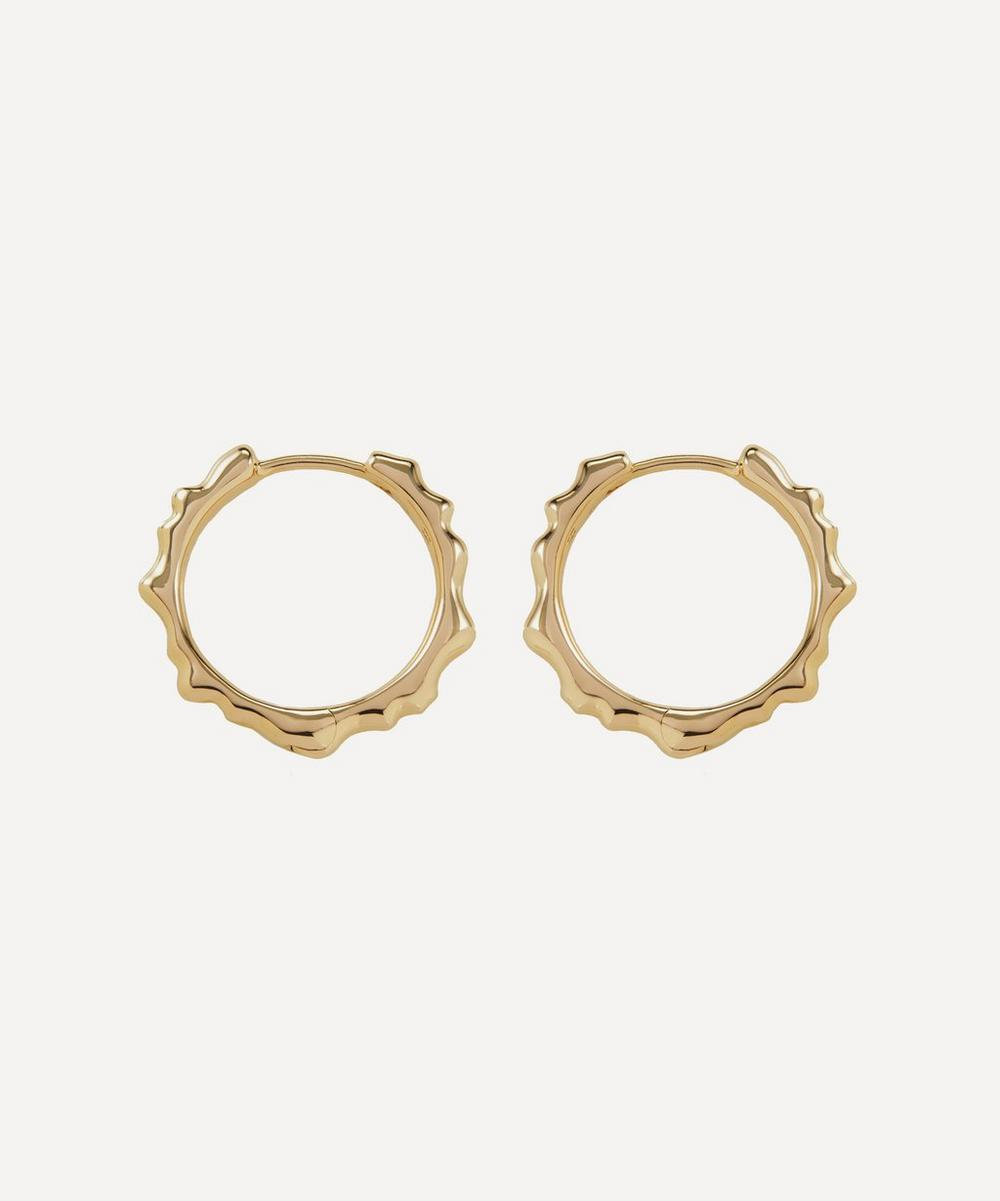 Gold Plated Vermeil Silver Siren Muse Small Hoop Earrings