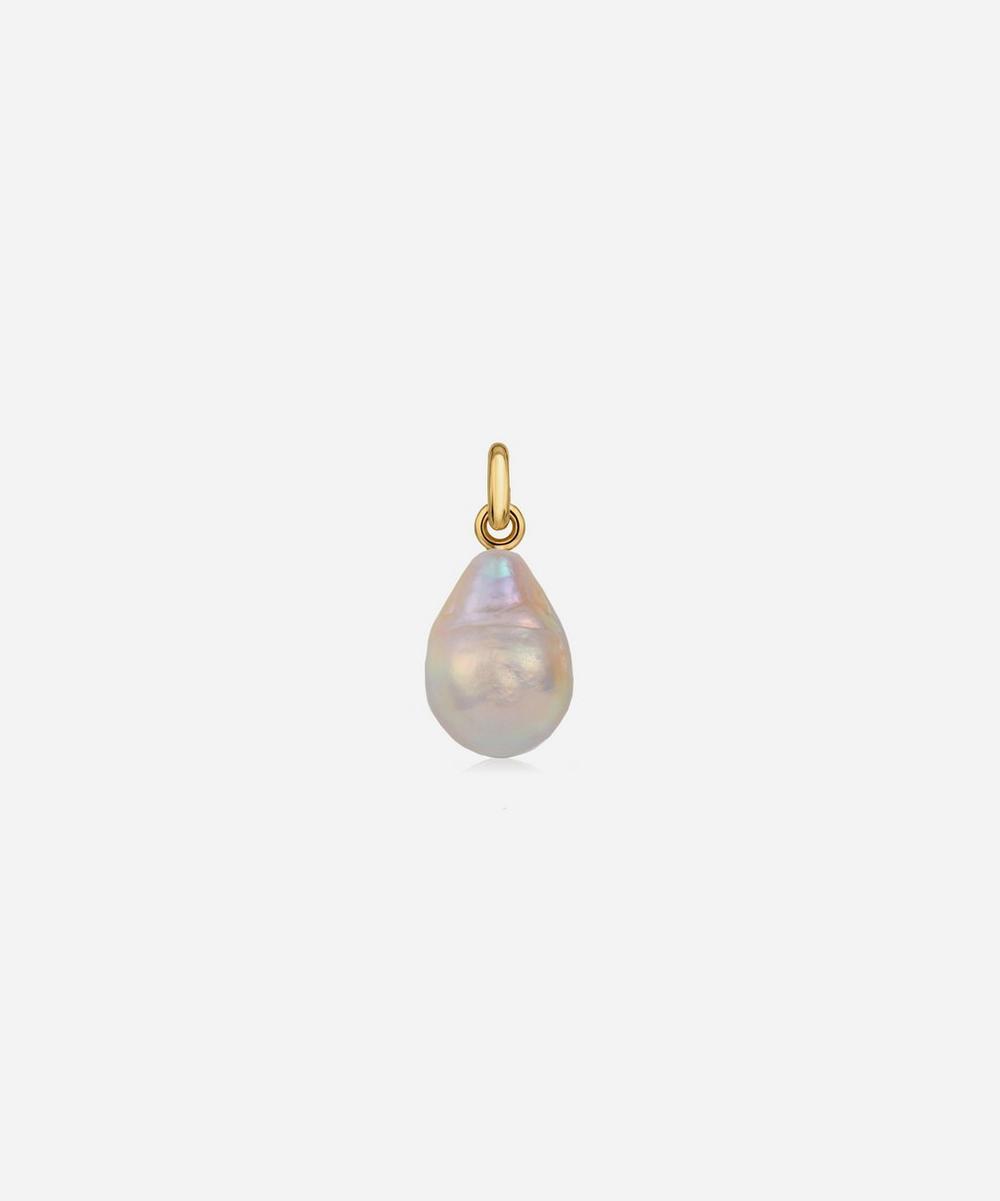 Gold Plated Vermeil Silver Nura Baroque Pearl Pendant Charm
