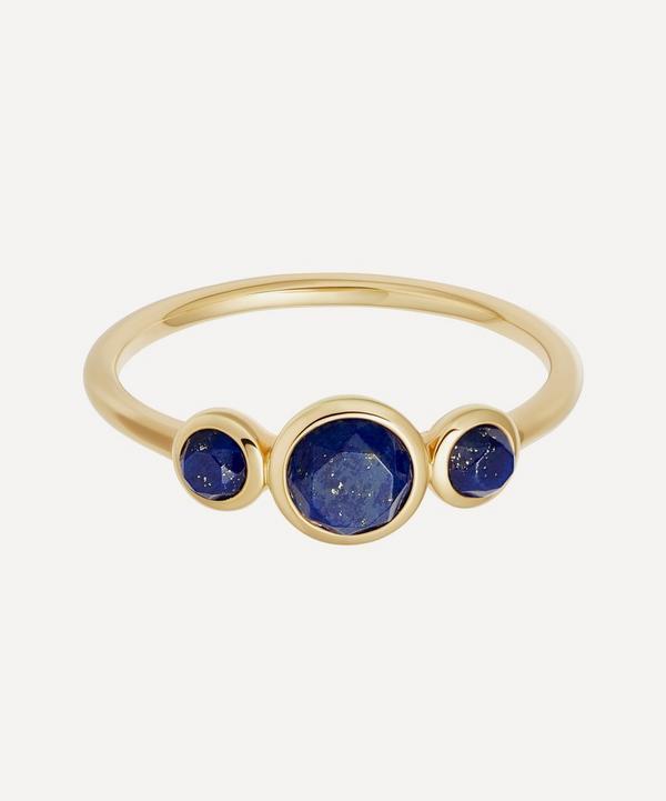 Gold Vermeil Stilla Triple Lapis Lazuli Ring