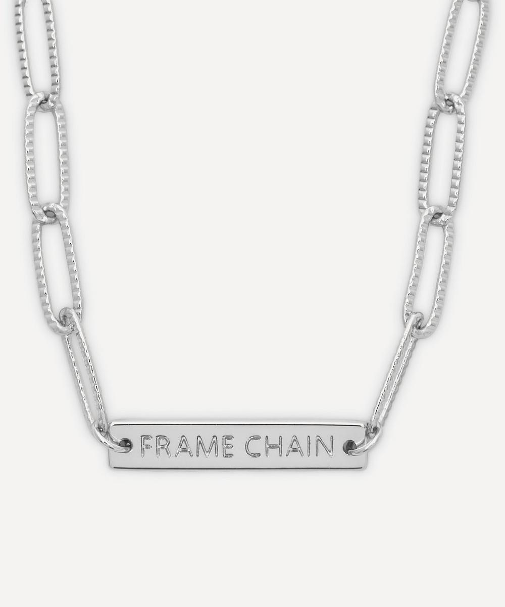 White Gold-Plated Rhonda Glasses Chain