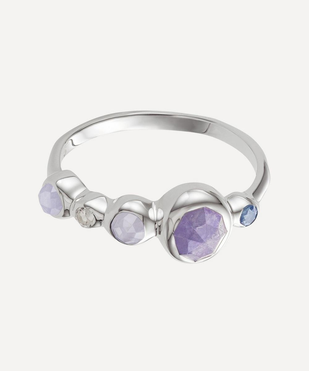 Silver Siren Tonal Multi-Stone Half Eternity Ring