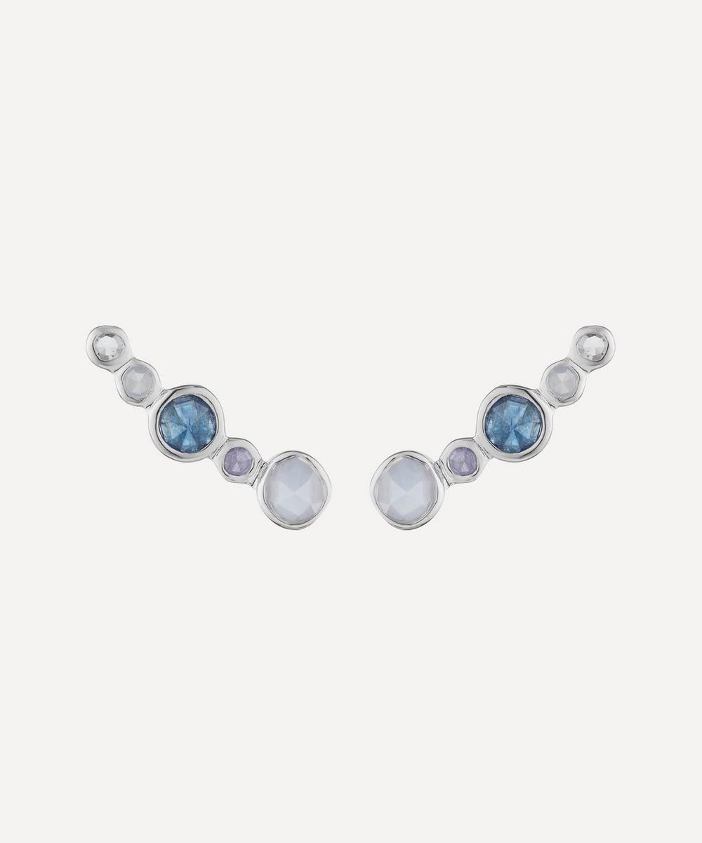 Silver Siren Tonal Multi-Stone Climber Earrings