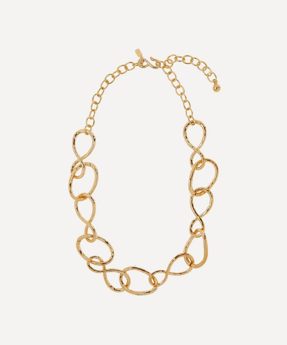 Gold-Plated Twist Link Necklace