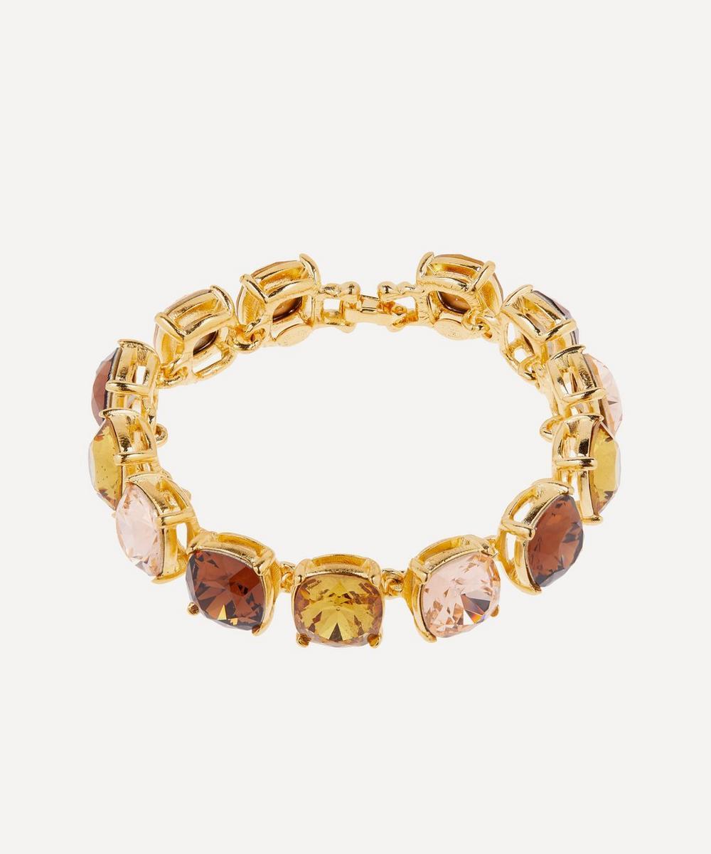 Gold-Plated Topaz Glass Crystal Bracelet