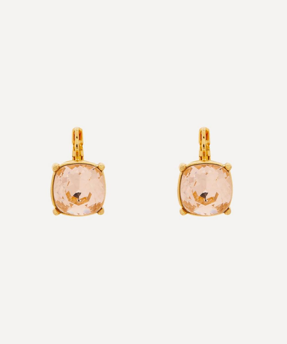 Gold-Plated Crystal Drop Earrings