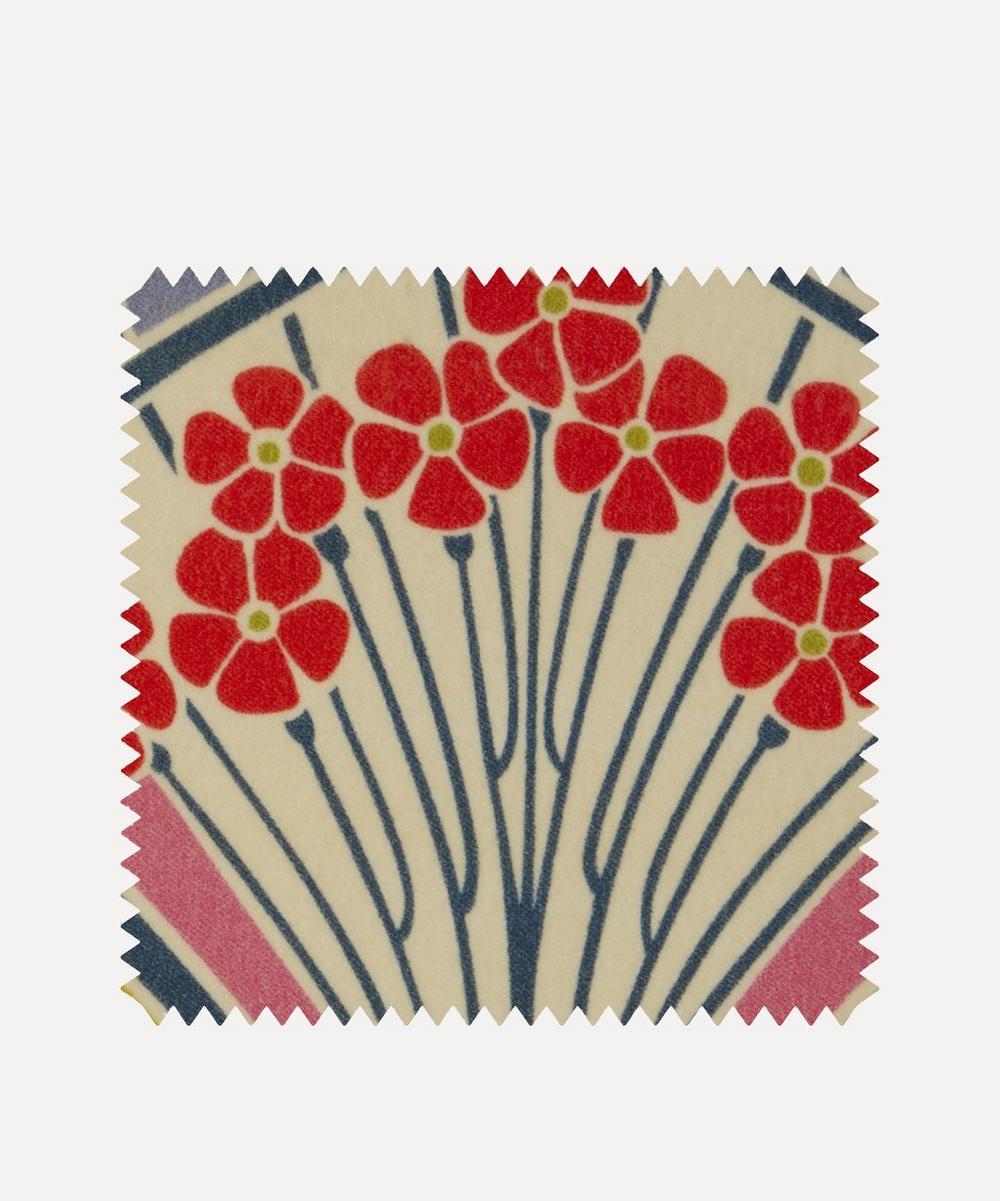 Fabric Swatch - Ianthe Bloom Multi Cotton Velvet in Lichen