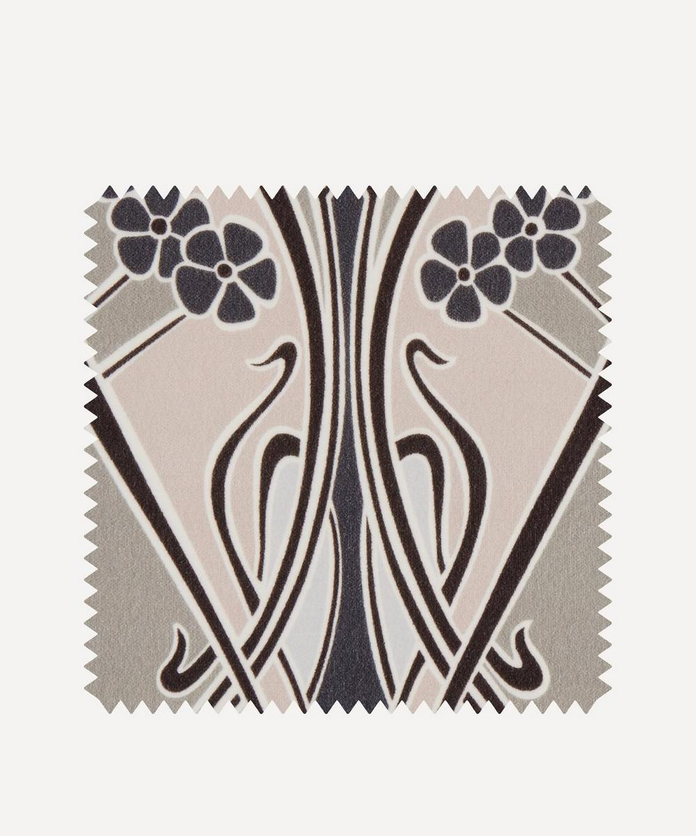 Fabric Swatch - Ianthe Bloom Multi Cotton Velvet in Pewter Dark