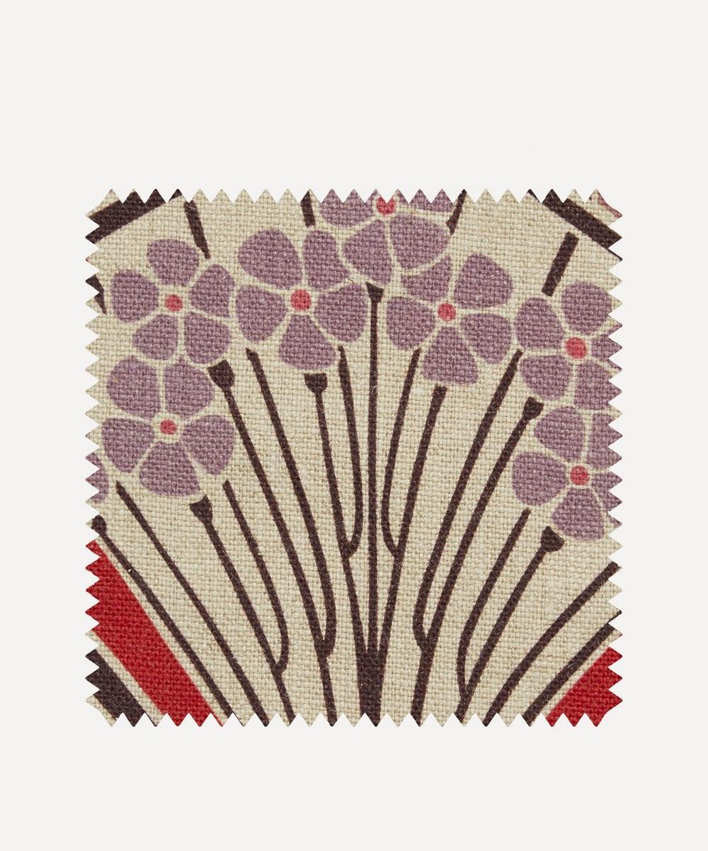 Fabric Swatch - Ianthe Bloom Multi Ladbroke Linen in Lacquer
