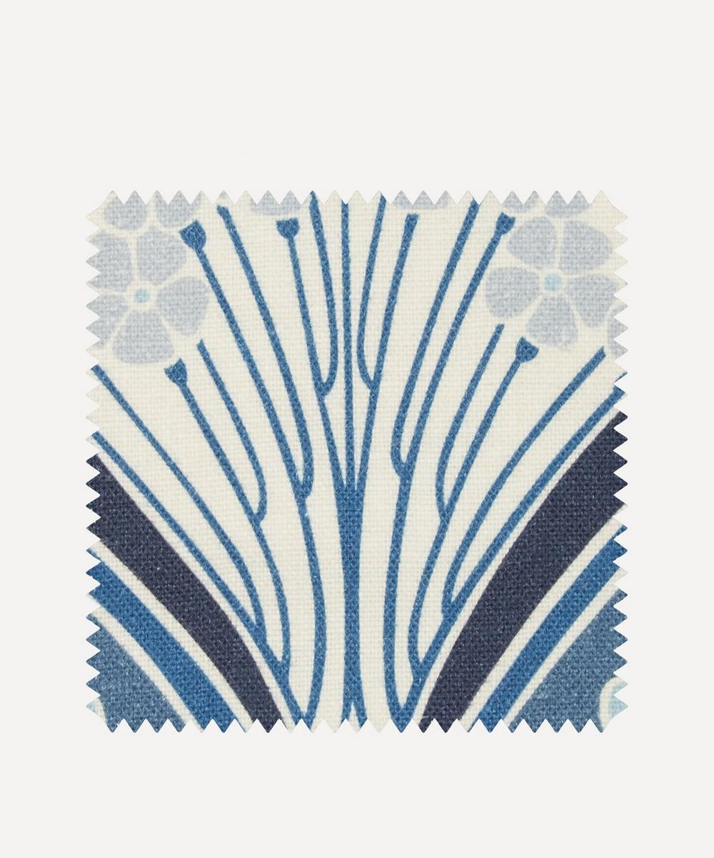 Fabric Swatch - Ianthe Bloom Multi Ladbroke Linen in Lapis