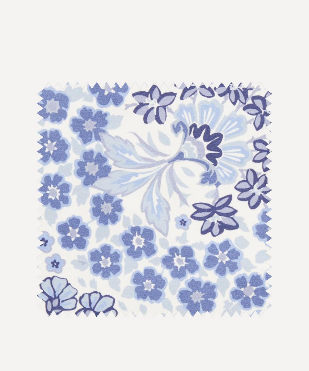 Fabric Swatch - Marquess Garden Chesham Sateen in Lapis