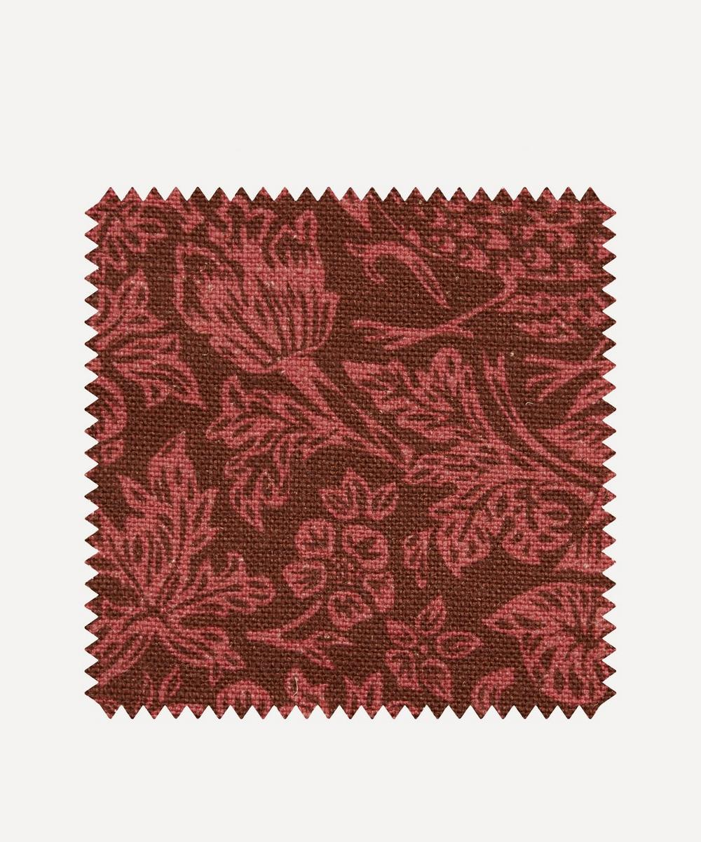 Fabric Swatch - Strawberry Meadowfield Ladbroke Linen in Lacquer