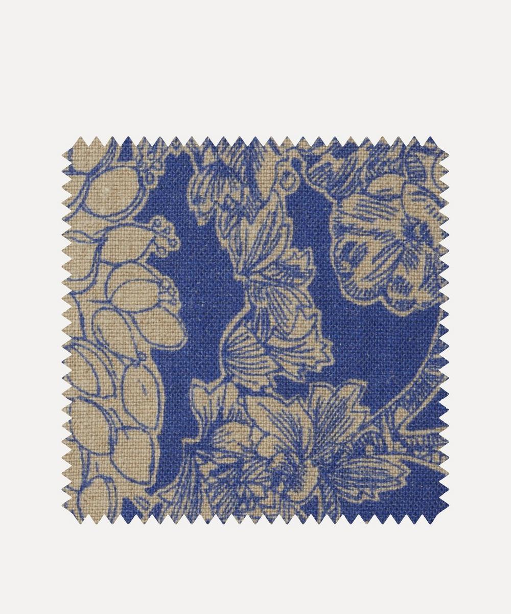 Fabric Swatch - Zennor Arbour Ladbroke Linen in Lapis