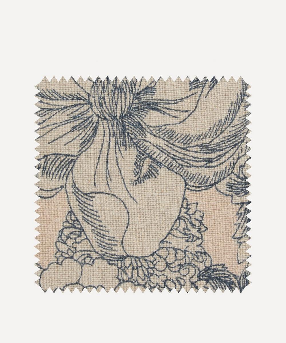 Fabric Swatch - Zennor Arbour Ladbroke Linen in Pewter Plaster Pink