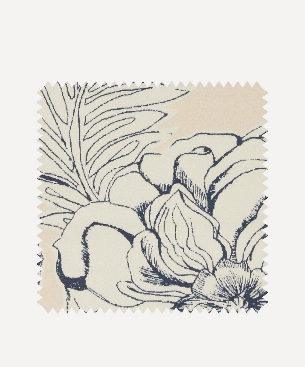 Fabric Swatch - Zennor Arbour Chesham Sateen in Pewter Plaster Pink