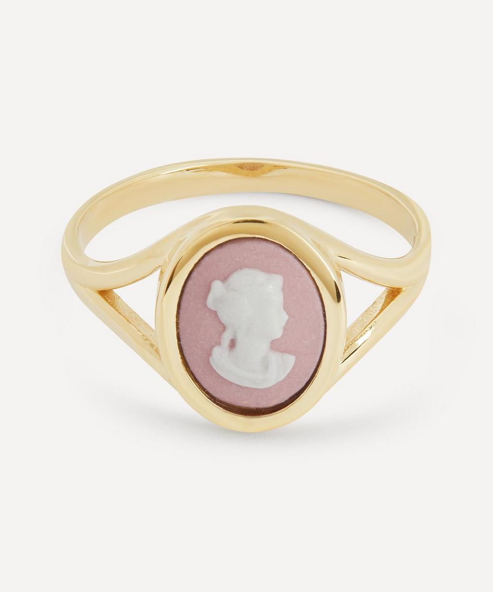 Gold Wedgwood Profile Tiny Split Ring